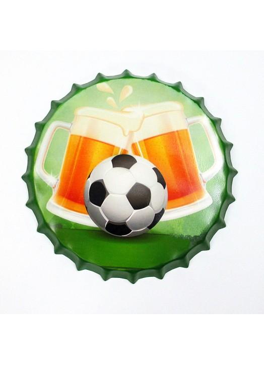 Fournisseur capsule métal Football - Grossiste capsule métal décorative Football