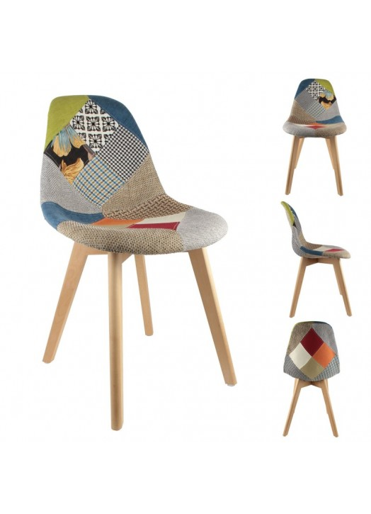 chaise scandinave patchwork pas cher - Achat / Vente chaise scandinave patchwork